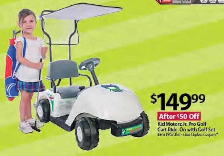 BJs Wholesale Black Friday: Kid Motorz Jr. Pro Golf Cart Ride-On w/Golf Set for $149.99
