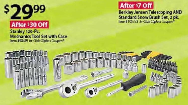 BJs Wholesale Black Friday: Stanley 120-Piece Mechanics Tool Set w/Case for $29.99