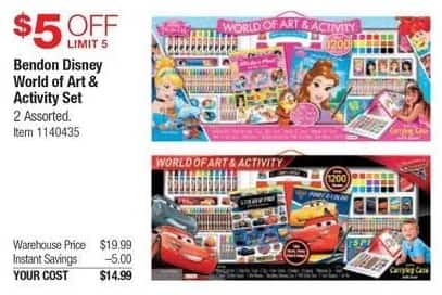Costco Wholesale Black Friday: Bendon Disney World of Art & Activity Set, Assorted Styles for $14.99