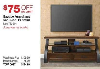 Costco Wholesale Black Friday Bayside Furnishings 56 3 In 1 Tv