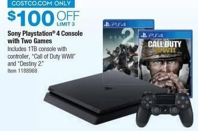 Costco Wholesale Black Friday: Sony Playstation 4 Console w/ Two Games - $100 Off