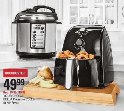 Shopko Black Friday: Bella Pressure Cooker or Air Fryer for $49.99