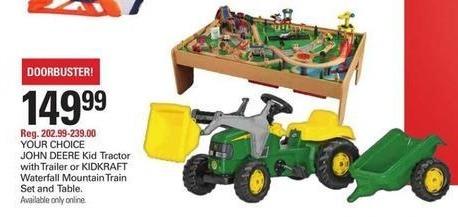Shopko Black Friday: John Deere Kid Tractor w/Trailer for $149.99
