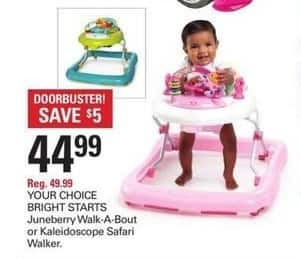Shopko Black Friday: Bright Starts Juneberry Walk-A-Bout or Kaleidoscope Safari Walker for $44.99
