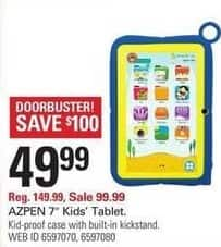 "Shopko Black Friday: Azpen 7"" Kids Tablet w/Case for $49.99"