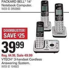Shopko Black Friday: Vtech 3-Handset Cordless Answering System for $39.99