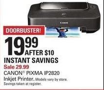 Shopko Black Friday: Canon Pixma IP2820 Inkjet Printer for $19.99