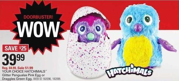 Shopko Black Friday: Hatchimals Glitter Pengualas Pink Egg for $39.99