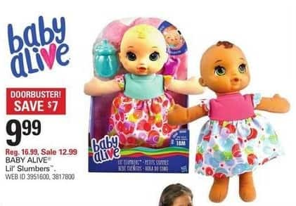 Shopko Black Friday: Baby Alive Lil' Slumbers for $9.99