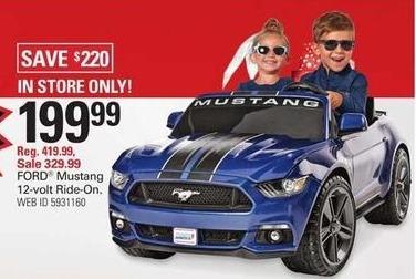 Shopko Black Friday: Ford Mustang 12-Volt Ride-On for $199.99