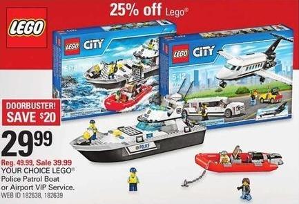 Shopko Black Friday: Lego Police Patrol Boat or Airport VIP Service for $29.99