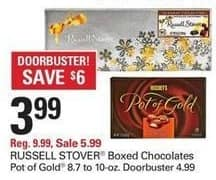 Shopko Black Friday: Russell Stover Boxed Chocolates or Pot of Gold for $3.99