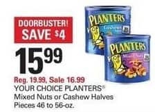 Shopko Black Friday: Planters Mixed Nuts or Cashew Halves for $15.99
