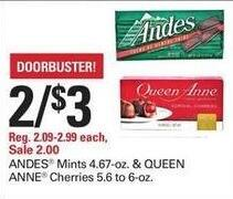 Shopko Black Friday: (2) Andes Mints or Queen Anne Cherries for $3.00