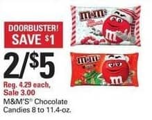 Shopko Black Friday: (2) M&M's Chocolate Candies for $5.00