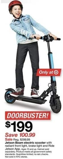 Target Black Friday Jetson Beam Electric Scooter W Radiant Front