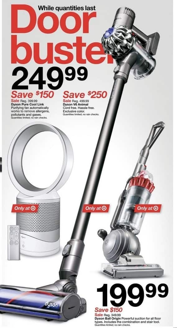Image of: Handheld Vacuum Target Black Friday Dyson V6 Animal Cord Free Vacuum For 24999 Slickdeals Target Black Friday Dyson V6 Animal Cord Free Vacuum For 24999