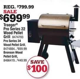 Ace Hardware Black Friday: Traeger Pro Series 22 Wood Pellet Grill for $699.99