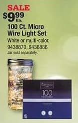 Ace Hardware Black Friday: 100 Count Micro Wire Light Set for $9.99