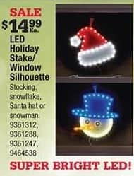 Ace Hardware Black Friday: LED Holiday Stake/Window Silhouette for $14.99