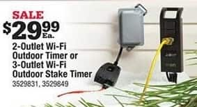 Ace Hardware Black Friday: 3-Outlet Wi-Fi Outdoor Stake Timer for $29.99