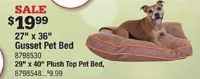 """Ace Hardware Black Friday: 29x40"""" Plush Top Pet Bed for $9.99"""