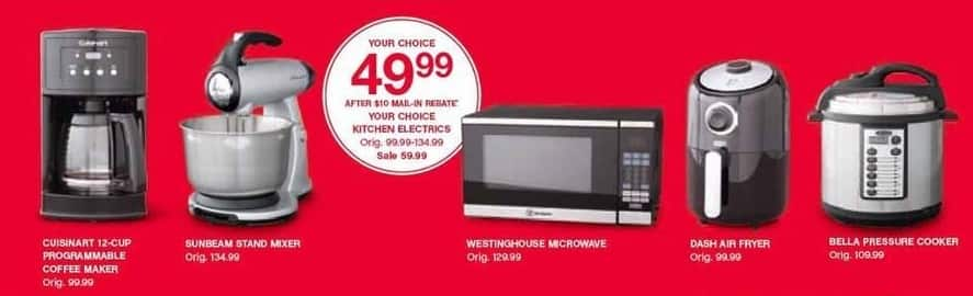 Belk Black Friday: Select Appliances: Cuisinart 12-Cup Coffee Maker, Sunbeam Stand Mixer and More for $49.99 after $10.00 rebate