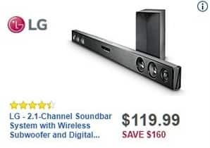 Best Black Friday Lg Sh3k 2 1 Channel Soundbar System W Wireless Subwoofer For See Deal