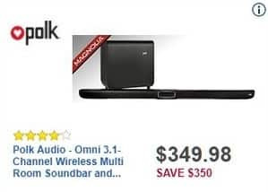 Best Buy Black Friday: Polk Audio Omni 3.1-Channel Wireless Multi-Room Soundbar and Subwoofer for $349.98