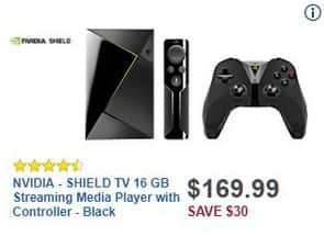 Best Buy Black Friday: 16GB NVIDIA SHIELD TV Streaming Media Player w/Controller for $169.99
