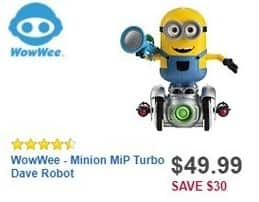 Best Buy Black Friday: WowWee Minion MiP Turbo Dave Robot for $49.99