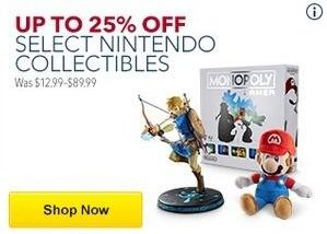 Best Buy Black Friday: Select Nintendo Collectibles for $9.99 - $34.99