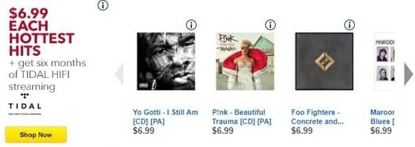 Best Buy Black Friday: Select CDs: P!nk, Foo Fighters, Maroon 5 and More for $6.99