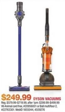 Macy's Black Friday: Dyson V6 Animal or Ball Multifloor 2 Vacuum for $249.99