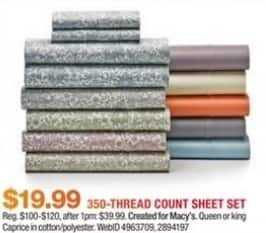 Macy's Black Friday: Fairfield Square 350-Thread Count Sheet Sets for $19.99