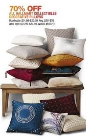 Macy's Black Friday: Entire Stock Hallmart Collectibles Decorative Pillows for $14.99 - $20.99
