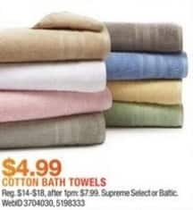 Macy's Black Friday: Select Cotton Bath Towels from Sunham Supreme Select or Baltic Linens for $4.99