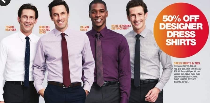 Macy's Black Friday: Select Men's Dress Shirts and Ties: Tommy Hilfiger, Michael Kors, Calvin Klein and More for $37.50 - $42.50