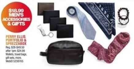 Macy's Black Friday: Select Men's Accessories and Gifts: Wallets, Travel Bags and More from Perry Ellis Portfolio and Sprezzabox for $18.99