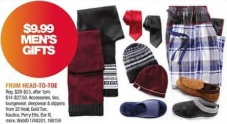 Macy's Black Friday: Select Men's Gifts: Accessories, Loungewear and More from Nautica, Perry Ellis and More for $9.99
