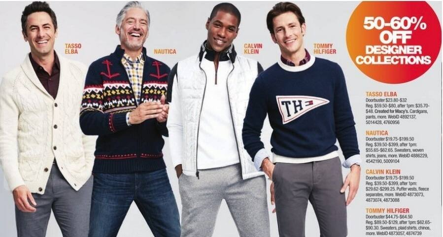 Macy's Black Friday: Select Men's Calvin Klein: Puffer Vests, Fleece Separates and More for $19.75 - $199.50