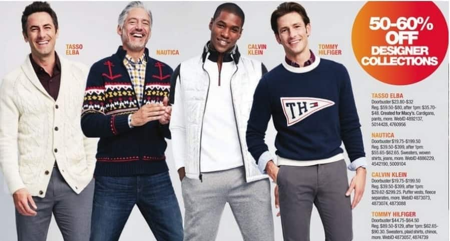 Macy's Black Friday: Select Men's Tommy Hilfiger: Sweaters, Plaid Shirts, Chinos and More for $44.75 - $64.50