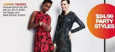 Macy's Black Friday: Select Juniors' Dresses: BDarlin, City Triangles and More for $24.99