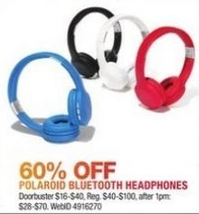 Macy's Black Friday: Polaroid Bluetooth Wireless Headphones for $16.00 - $40.00