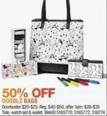 Macy's Black Friday: Select Doodlz Products: Tote, Watch Set and More for $20.00 - $25.00