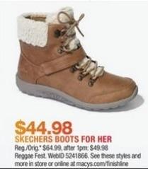Macy's Black Friday: Skechers Women's Boots for $44.98