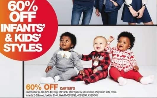 Macy's Black Friday: Select Infants and Toddlers Carter's: Playwear, Sets and More for $4.80 - $22.40