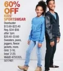 Macy's Black Friday: Select Kids' Sportswear: Sweaters, Jeans, Joggers and More for $13.60 - $22.40