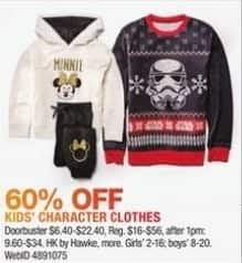 Macy's Black Friday: Select Kids' Character Clothes: HK by Hawke and More for $6.40 - $22.40