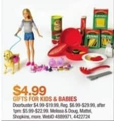 Macy's Black Friday: Select Gifts for Kids and Babies: Melissa & Doug, Mattel, Shopkins and More for $4.99 - $19.99